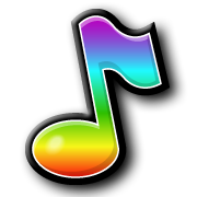 Rainbow Coloured Music Note