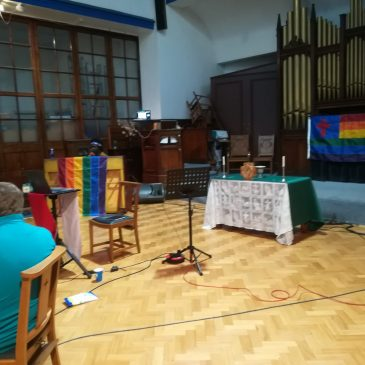 We are now livestreaming from the church building